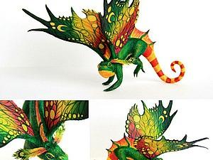 Лепим чудесного дракончика из бархатного пластика. Ярмарка Мастеров - ручная работа, handmade.