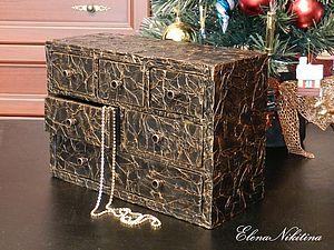 Делаем шкатулку-комод из картона. Ярмарка Мастеров - ручная работа, handmade.