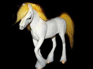 Лошадь в технике сухого валяния: мастер-класс. Ярмарка Мастеров - ручная работа, handmade.