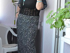 Простенькая юбочка плюс кусочек борцовки — получится красивенькое летнее платье. Ярмарка Мастеров - ручная работа, handmade.