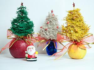 Мастерим «Ёлочку новогоднюю!» из мешковины. Ярмарка Мастеров - ручная работа, handmade.