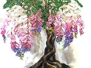 Создаем дерево глицинии из бисера. Ярмарка Мастеров - ручная работа, handmade.