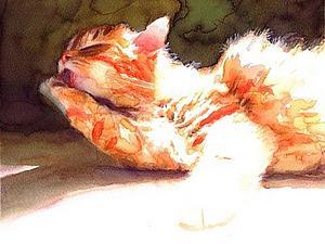 Кошки в искусстве. Акварельные коты художника Alex Carter | Ярмарка Мастеров - ручная работа, handmade