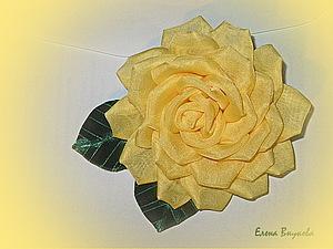 Создаем брошь-розу из ткани без профессиональных инструментов | Ярмарка Мастеров - ручная работа, handmade