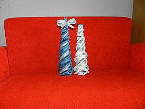 Мк по плетению ёлки косым плетением | Ярмарка Мастеров - ручная работа, handmade