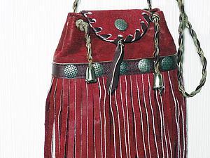 Видео мастер-класс: шьём маленькую сумочку с бахромой. Ярмарка Мастеров - ручная работа, handmade.