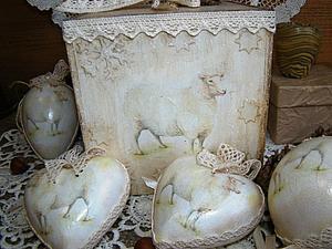 Набор елочных игрушек Белая овечка. Новая работа. | Ярмарка Мастеров - ручная работа, handmade