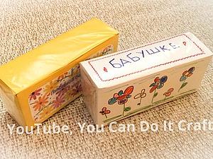 Как сделать интересный подарок для бабушки: чайные ярлычки и коробочка своими руками. Ярмарка Мастеров - ручная работа, handmade.
