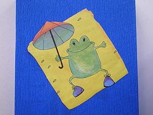 Это моя лягушонка в коробчонке едет. | Ярмарка Мастеров - ручная работа, handmade
