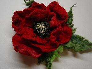 МК  Брошь -цветок валяние с нуля   Ярмарка Мастеров - ручная работа, handmade