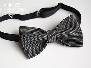 Бабочка галстук на резинке своими руками
