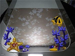 Украшение зеркал декором из плавленного стекла | Ярмарка Мастеров - ручная работа, handmade