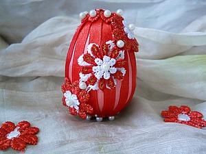 Декор пасхального яйца: быстро и просто. Ярмарка Мастеров - ручная работа, handmade.