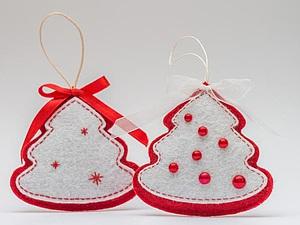 Мастерим новогоднюю ёлочку из фетра. Ярмарка Мастеров - ручная работа, handmade.