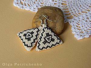 Делаем серьги-треугольники. Ярмарка Мастеров - ручная работа, handmade.