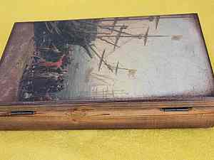 Чайная  коробочка,  Торговцы .Обжиг и  браширование... Ярмарка Мастеров - ручная работа, handmade.