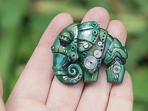 Лепим слона из полимерной глины в стилистике биомеханики. Ярмарка Мастеров - ручная работа, handmade.