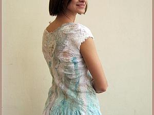 Мастер-шоу по авторской технике жатый шелк на примере летнего платья с небольшим рукавом. | Ярмарка Мастеров - ручная работа, handmade