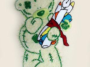 Вышиваем гладью мишку Тедди. Ярмарка Мастеров - ручная работа, handmade.