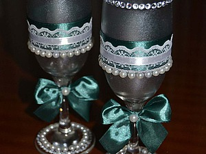Мастерим свадебные фужеры своими руками. Ярмарка Мастеров - ручная работа, handmade.
