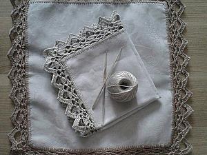 Обвязываем края салфетки крючком. Ярмарка Мастеров - ручная работа, handmade.