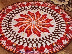 """Создаем коврик-мандалу """"Солнышко"""". Часть 7. Ярмарка Мастеров - ручная работа, handmade."""