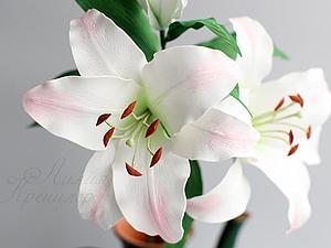 Ветка лилии из фоамирана | Ярмарка Мастеров - ручная работа, handmade