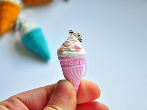 Делаем вкусный брелок-мороженое. Ярмарка Мастеров - ручная работа, handmade.