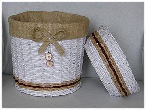 Плетение корзинки  из газететных трубочек | Ярмарка Мастеров - ручная работа, handmade