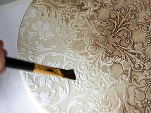 Декорируем светильник структурной пастой. Ярмарка Мастеров - ручная работа, handmade.
