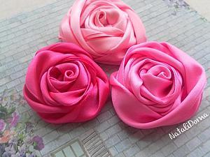 Красивые атласные розы своими руками. Ярмарка Мастеров - ручная работа, handmade.