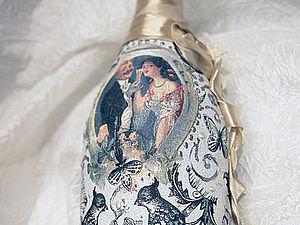 Мастер-класс по сложному декорированию бутылки | Ярмарка Мастеров - ручная работа, handmade