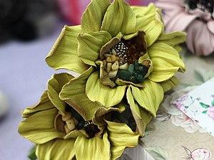 МК по цветам из кожи - камелия | Ярмарка Мастеров - ручная работа, handmade