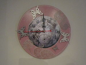 "Часы ""Эффект бабочки"". Ярмарка Мастеров - ручная работа, handmade."