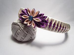 Оплетение ободка лентами с бусинами | Ярмарка Мастеров - ручная работа, handmade