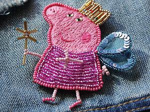 Вышиваем брошку «Свинка Пеппа». Часть 1. Ярмарка Мастеров - ручная работа, handmade.