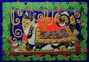 Как сделать декоративное панно «Царевна-кошка». Ярмарка Мастеров - ручная работа, handmade.