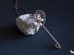 Делаем ключ-кулон в технике Wire Wrap. Ярмарка Мастеров - ручная работа, handmade.