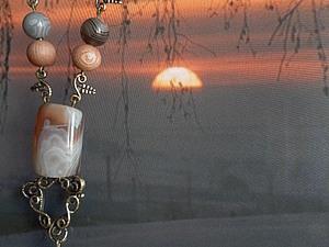 «Зимний сон розового дерева»... первая работа с авторской фурнитурой Анны и Вячеслава Черных!.. | Ярмарка Мастеров - ручная работа, handmade