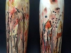 Расписываем керамическую вазу. Ярмарка Мастеров - ручная работа, handmade.