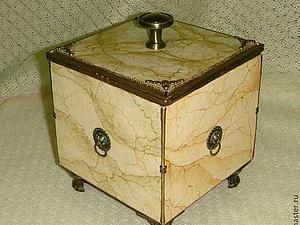 Рисуем мрамор! Коробочка для хранения из мрамора.   Ярмарка Мастеров - ручная работа, handmade