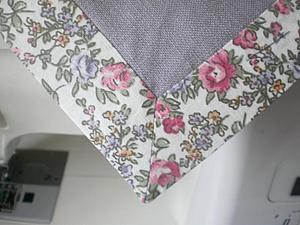 Салфетка из ткани: оформление уголков. Ярмарка Мастеров - ручная работа, handmade.