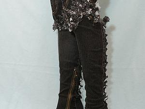 Ботфорты джинсовые по цене сапог!!! | Ярмарка Мастеров - ручная работа, handmade