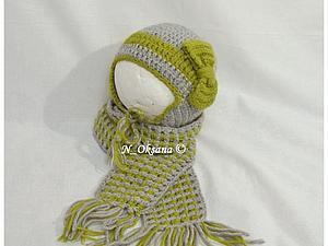 Новый комплект шапочка и шарфик