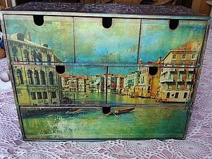 """Декорируем комод """"Венеция"""", или Новая жизнь старых вещей. Ярмарка Мастеров - ручная работа, handmade."""