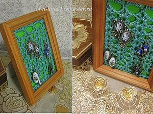 Делаем милую подставку для украшений из фоторамки. Ярмарка Мастеров - ручная работа, handmade.