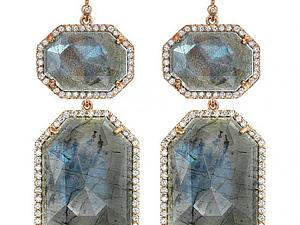 Лабрадориты в бриллиантах | Ярмарка Мастеров - ручная работа, handmade