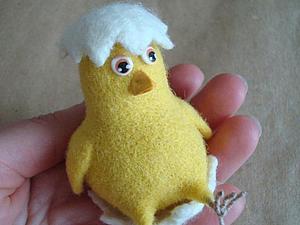 Мастер-класс: Пасхальный птенчик из шерсти. Ярмарка Мастеров - ручная работа, handmade.