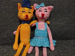 Вяжем солнечного котика и нежную кошечку. Ярмарка Мастеров - ручная работа, handmade.