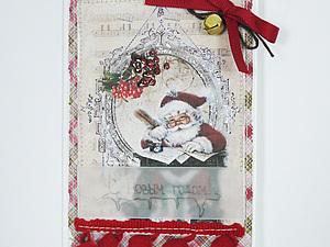 Новогодняя открытка своими руками. Ярмарка Мастеров - ручная работа, handmade.